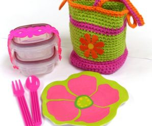Back to School – Lunch Bags to Crochet – 11 free patterns
