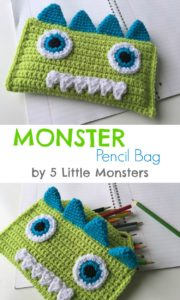 Crocheted Monster Pencil Bag