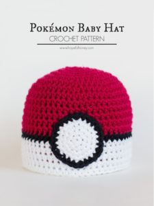 Pokemon Baby Hat Crochet Pattern 3