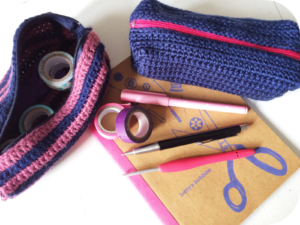 crochet pencil case