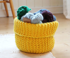 So Many Baskets to Knit for Fall – 26 free patterns