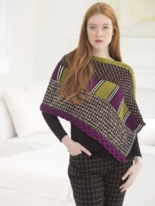 knit-pattern-mixed-media-poncho-l40517