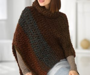 Warm and Wonderful Fall Ponchos to Crochet – 27 free patterns from Lion Brand Yarn