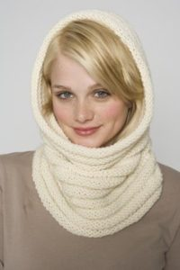 Knit Cowl Hood Pattern Free : Lovely and Warm   Hooded Cowls and Scarves to Knit   18 ...