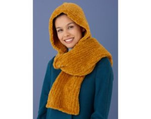 knit-pattern-snow-bunny-hooded-scarf-l10669-a