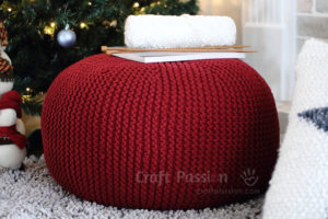 Knitted Ribbing Patterns : Poufs, Ottomans, Hassocks to Knit   12 free patterns   Grandmothers Patt...