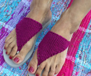 Fancy Knit Flip Flops and Barefoot Sandals – free patterns