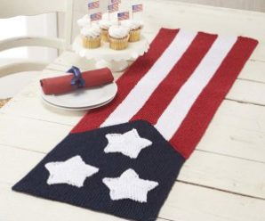 More Summer Knitting in Red, White and Blue – free patterns