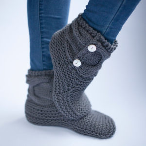 Slipper Socks And Booties Great Gifts To Knit Free Patterns