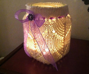 Pretty Candle Covers and Holders to Knit – 19 free patterns