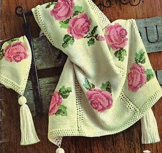 Rose Motif Crochet Afghan Pattern Free Crochet Patterns