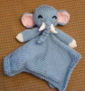 Gray Elephant Baby Security Blanket | Elegant Baby | 300x280