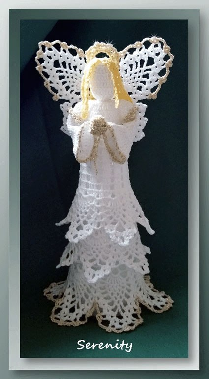 Vintage Crochet Patterns Christening and Wedding Momento Gift Pattern Angels Crochet Pattern PDF Lacy Angel Christmas Tree Decorations
